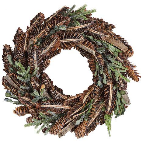 Couronne de Noël bois foncé ⌀ 35 cm KAAVI