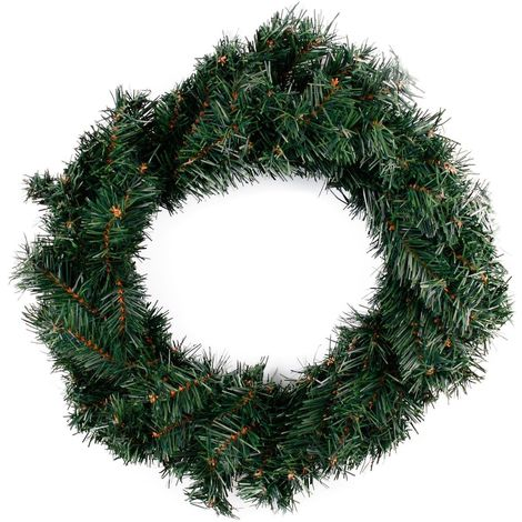 Couronne de Noël naturelle gm Cosychristmas - Vert - Vert