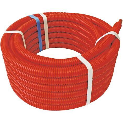 Couronne de tube PER gainé rouge Ø16 - longueur 25m