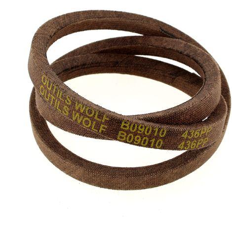 Courroie 10x6x755 436pp pour Tondeuse a gazon Wolf