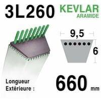 Courroie 3l26 - 9,5 mm x 660 mm