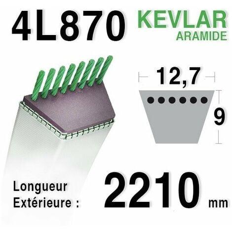 Courroie 4L870 - 4L87 AYP 180214 HUSQVARNA 532180214 AMF NOMA 314120 JOHN DEERE m40223 MURRAY 37x89