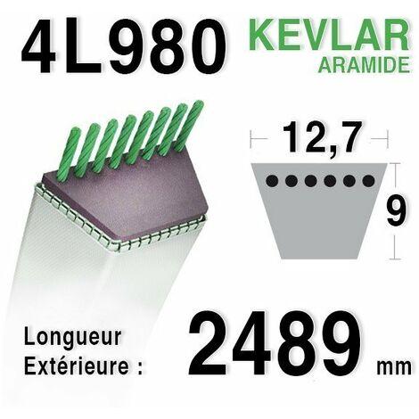 Courroie 4L980 - 4L98 HONDA cg35062000h1 - cg35062011h0 JOHN DEERE m 41668 - AMF 42264 CASTELGARDEN 35062000/1