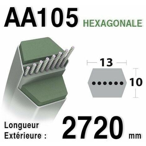 Courroie aa105 HUSQVARNA 532165555 - 532180217 AYP - BERNARD LOISIRS - 165555 - 180217