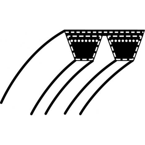 Courroie Double pour tondeuse autoportée STIGA - WOLF