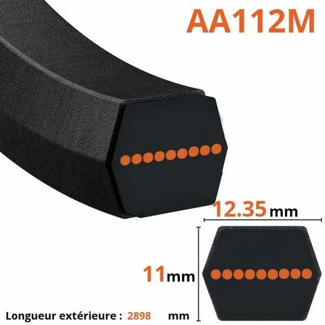 Courroie lisse hexagonale AA112M