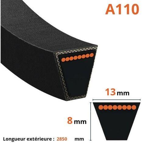 Courroie lisse trapézoïdale A110