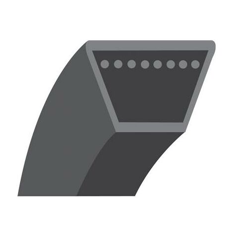Courroie lisse trapézoïdale série 4L (section 12,7x8mm). Longueur extérieur: 1422.4,80mm.