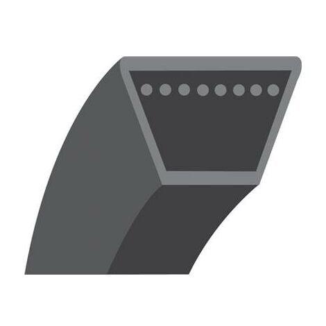 Courroie lisse trapézoïdale série 4L (section 12,7x8mm). Longueur extérieur: 1447,80mm.