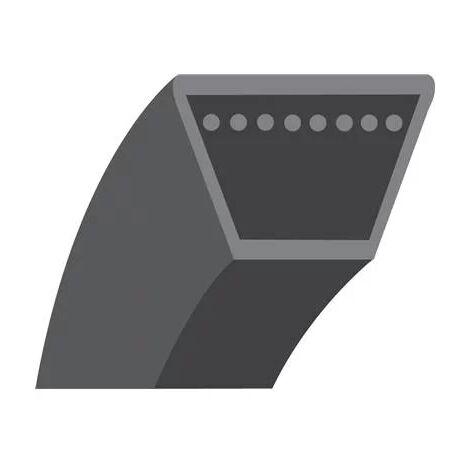 Courroie lisse trapézoïdale série A (section 13x8mm) Longueur ext: 939mm.
