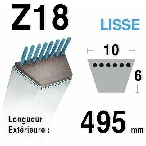 Courroie Z18 - 10 mm x 495 mm