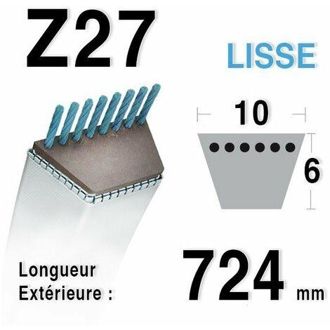 COURROIE TONDEUSE HONDA CASTELGARDEN Z27 TRAPEZOÏDALE 10MM x 724MM ALPINA GGP