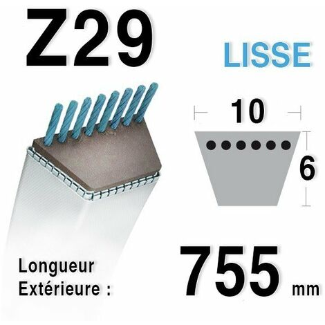 Courroie Z29 - 10 mm x 775 mm