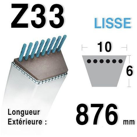 Courroie Z33 - 10 mm x 876 mm