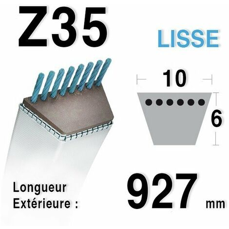 Courroie Z35 - 10 mm x 927 mm