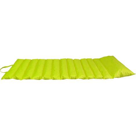 Coussin bain de soleil nomade coloré vert anis - Vert anis