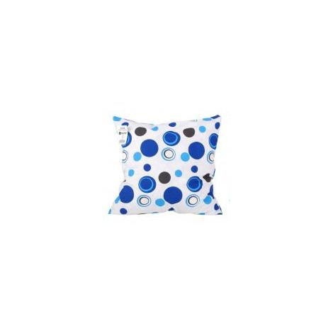 Coussin ''bulles Bleues'' 40 x 40 cm