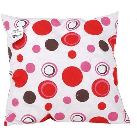 Coussin contemporain rouge 40 x 40 cm Lm-distribution