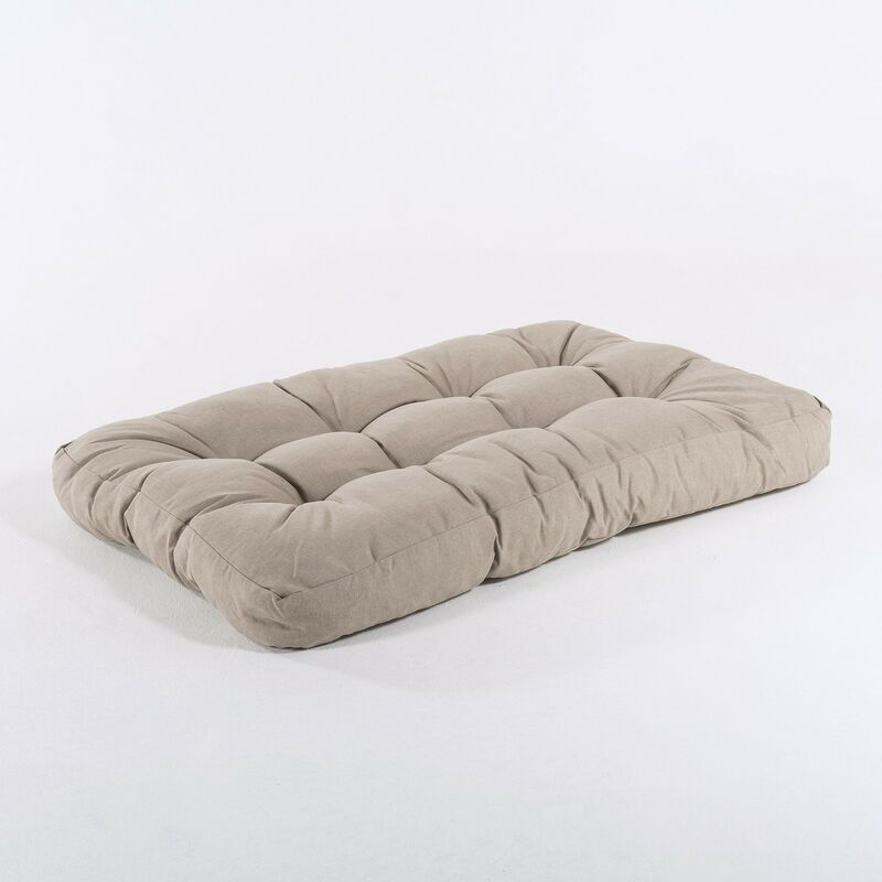 Edenjardin - Coussin d'appui pour palette en fibre d'Oléfine | Dimensions: 80x120x16 cm | Couleur marron grillé | Il ne perd pas de couleur |