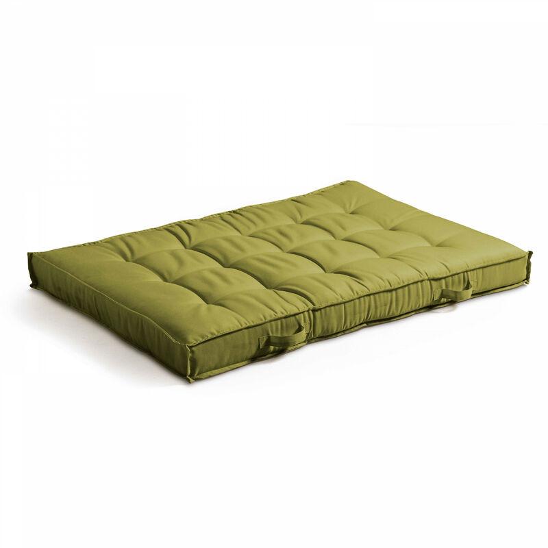Coussin pour palette matelassé 120x80cm Cuzco - Vert - Vert