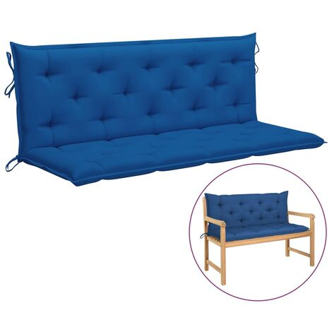 Coussin de balancelle Bleu 150 cm Tissu