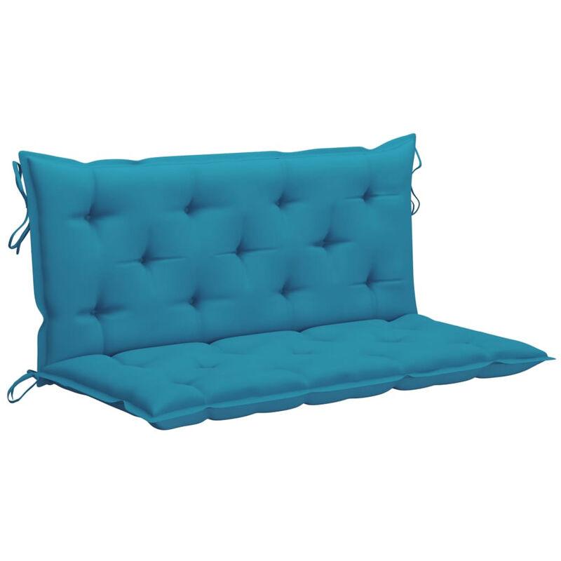 Coussin de balancelle Bleu clair 120 cm Tissu