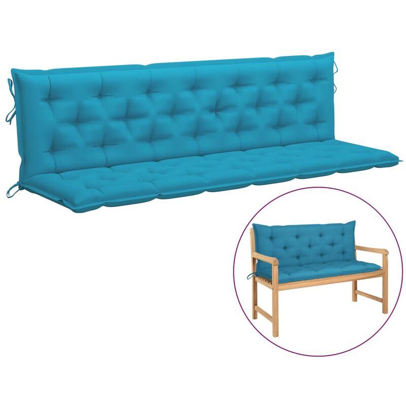 Coussin de balancelle Bleu clair 200 cm Tissu
