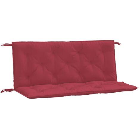 Coussin de balancelle Rouge bordeaux 120 cm Tissu