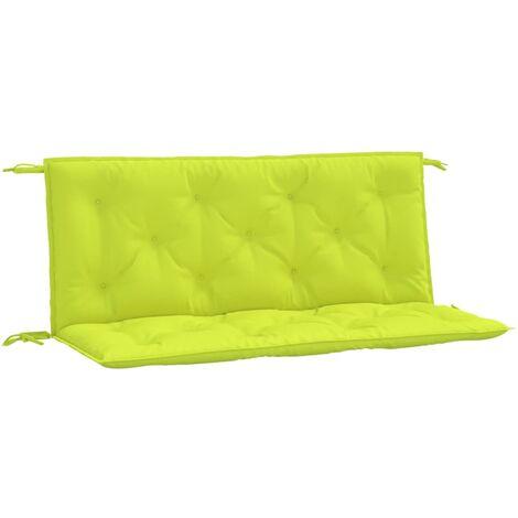 Coussin de balancelle Vert vif 120 cm Tissu