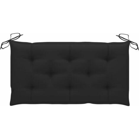 Coussin de banc de jardin Noir 100x50x7 cm Tissu