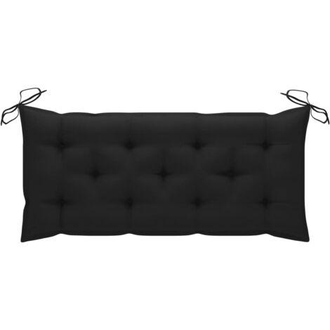 Coussin de banc de jardin Noir 120x50x7 cm Tissu