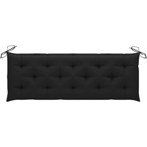 Coussin de banc de jardin Noir 150x50x7 cm Tissu