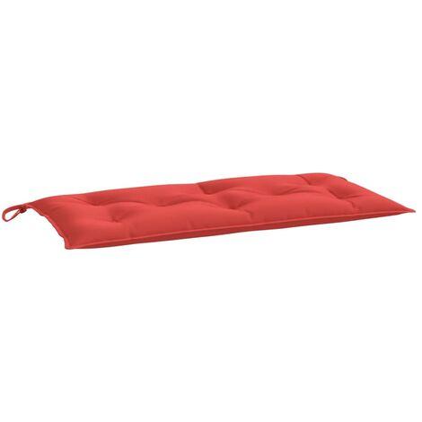 Coussin de banc de jardin Rouge 100x50x7 cm Tissu