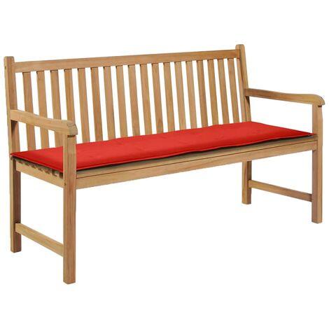 Coussin de banc de jardin Rouge 150 x 50 x 3 cm