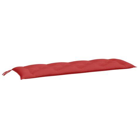 Coussin de banc de jardin Rouge 150x50x7 cm Tissu