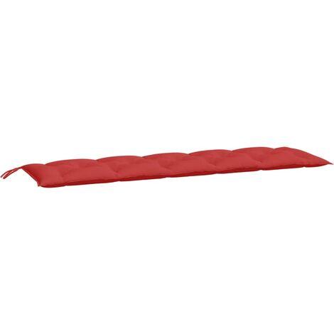 Coussin de banc de jardin Rouge 180x50x7 cm Tissu