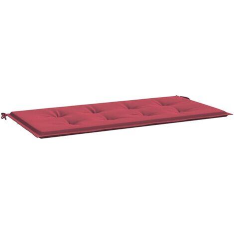 Coussin de banc de jardin Rouge bordeaux 100x50x4 cm Tissu