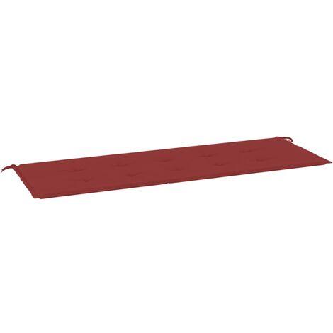 Coussin de banc de jardin Rouge bordeaux 150x50x4 cm Tissu