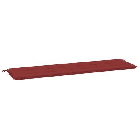 Coussin de banc de jardin Rouge bordeaux 180x50x4 cm Tissu