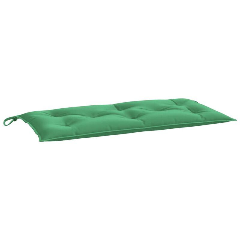 Coussin de banc de jardin Vert 100x50x7 cm Tissu
