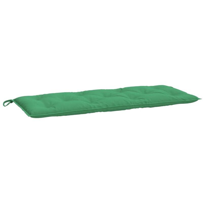 Coussin de banc de jardin Vert 120x50x7 cm Tissu