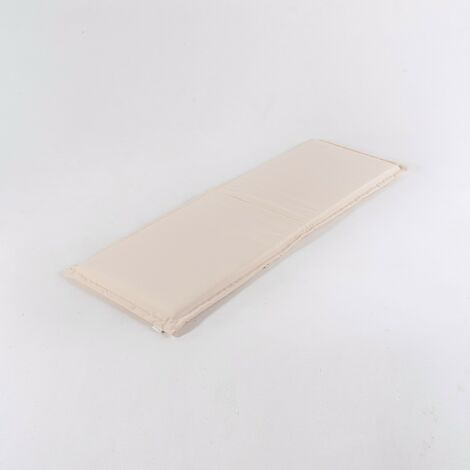 Coussin de banc d'extérieur standard couleur de la pierre | Dimensions: 140x49x5 cm | Résistant aux gouttes d'eau | Livraison gratuite - Pierre