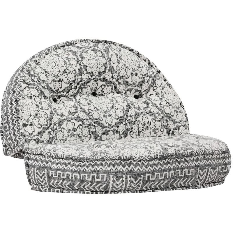 Coussin de canapé siège latéral de canapé pouf 100x20 cm gris clair tissu - gris