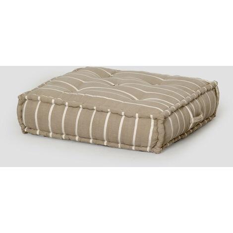 Coussin de canapé modulable en coton Dhel Boho SKLUM Coton - Brun Moka