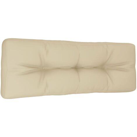 Coussin de canapé palette Beige 120x40x12 cm