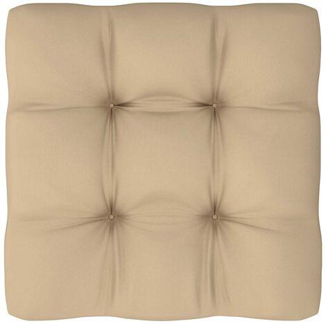 Coussin de canapé palette Beige 50x50x12 cm