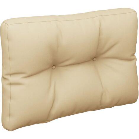 Coussin de canapé palette Beige 60x40x12 cm