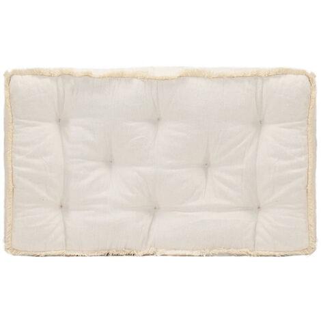 Coussin de canape palette Beige 73x40x7 cm