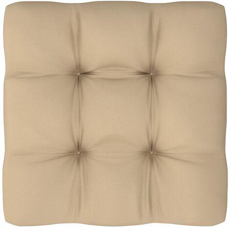 Coussin de canapé palette Beige 80x80x12 cm