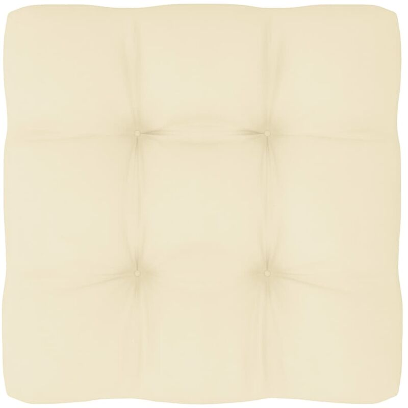 Coussin de canapé palette Crème 50x50x12 cm